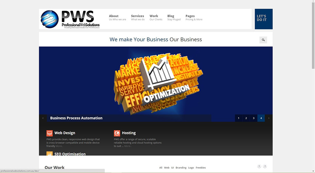 Professional Web Solutions example picture