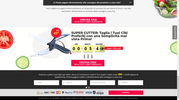SuperCutter Landing page example picture
