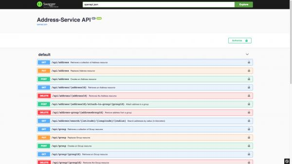 Address services API example picture